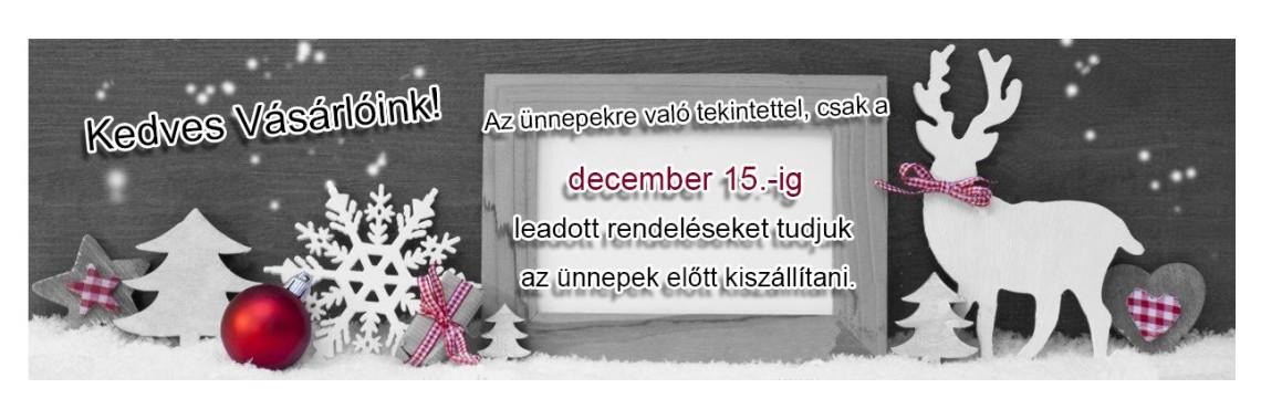Decemberi szállítás