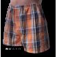 Narancssárga szőtt kockás alsónadrág