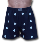 Apró szíves mintás, kék pamut alsónadrág