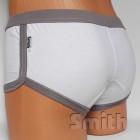 Fehér stretch alsónadrág, csípő fazon