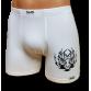 Fehér stretch alsónadrág, tigrisfej mintával