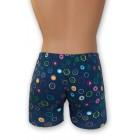 Kék stretch alsónadrág, karika mintával