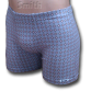 Szürke stretch alsónadrág, káró mintával