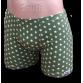 Zöld stretch alsónadrág, csillag mintával