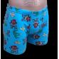Kék stretch alsónadrág, majom mintával