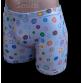 Szürke stretch alsónadrág, karika mintával