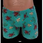 Zöld stretch alsónadrág, majom mintával