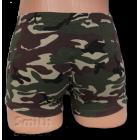 Zöld rövid stretch alsónadrág, terep mintával