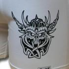 Fehér stretch alsónadrág, viking mintával