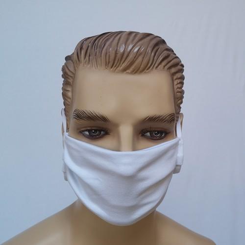 Mosható pamut maszk, fehér