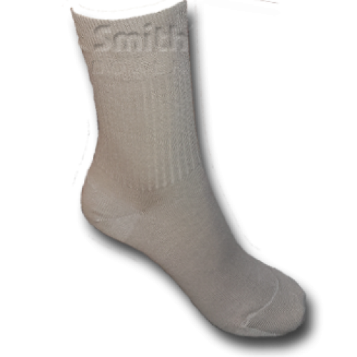 Drapp, gumi nélküli pamut zokni