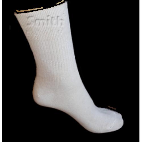 Fehér, gumi nélküli pamut zokni
