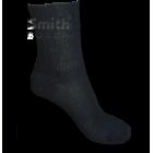 Fekete, gumi nélküli pamut zokni