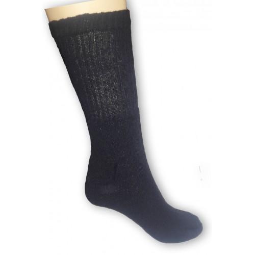 Fekete, frottír pamut zokni