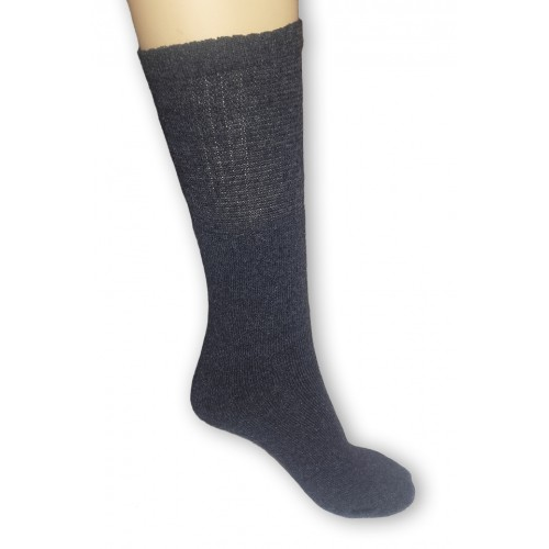 Sötétszürke, frottír pamut zokni