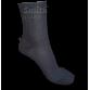 Sötétszürke, gumi nélküli pamut zokni