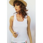 Fehér pamut női trikó