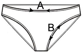 5687058865 100% pamut női bugyi, bikini fazonban, hímzéssel.